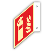 brandschutzschilder-fahnenschild-feuerloescher-aluminium
