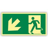 fluchtwegschilder-rettungsweg-links-abwaerts-folie